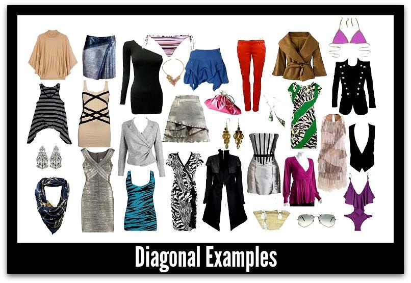 Diagonal Fashion Lines